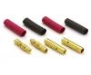 Goldkontakte 4mm 2x Buchse, 2x Stecker