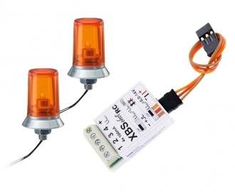 24x15mm Orange Flashing Light w/Elec.(2)