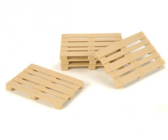 1:14 Euro-Pallet-Set (5) Plastic/Beige