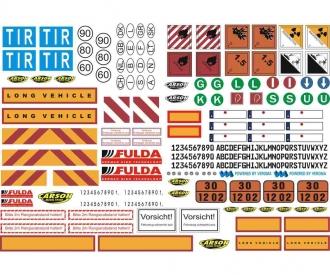 1:14 Sticker-Sheet Truck Caution-Signs