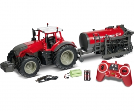 1:16 RC Tractor w. road tank 100% rouge