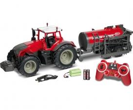 1:16 RC Traktor m.Tankwag.2.4G 100% rot
