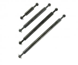 1:14 Prop.shaft Set 6x6 (4) Volvo Steel