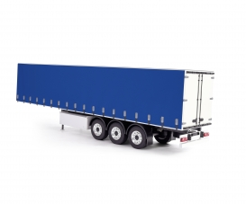 1:14 Curtain-side Trailer RTR white/blue