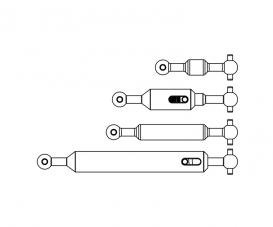 1:14 Propeller shaft Set (4) 6x6 adj.