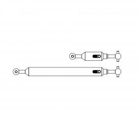 1:14 Propeller shaft Set (2) 6x4 adj.