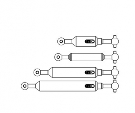 1:14 Prop.shaft Set 6x6 (4) Tipper adj.