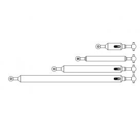 1:14 Prop.shaft Set 6x6 (4) FH adj.