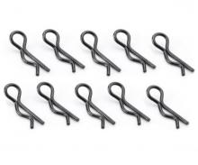 Body pins 27 mm, 10 pieces, black