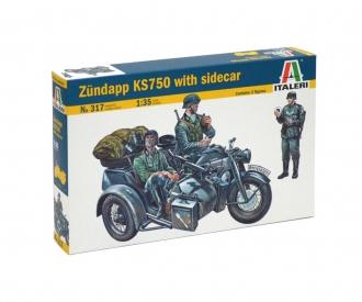 1:35 Motorcycle side car Zündapp KS750