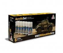 Acryl Set WWII Military Allied Army
