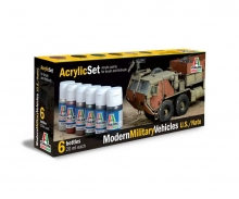 Acrylic Set Modern Military Vehicles