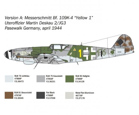 1:48 Messerschm. BF109K-4