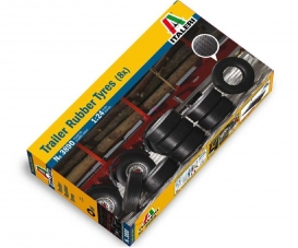1:24 Trailer Rubber Tyres (8x)