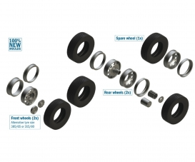 1:24 European Tractors TYRES and RIMS