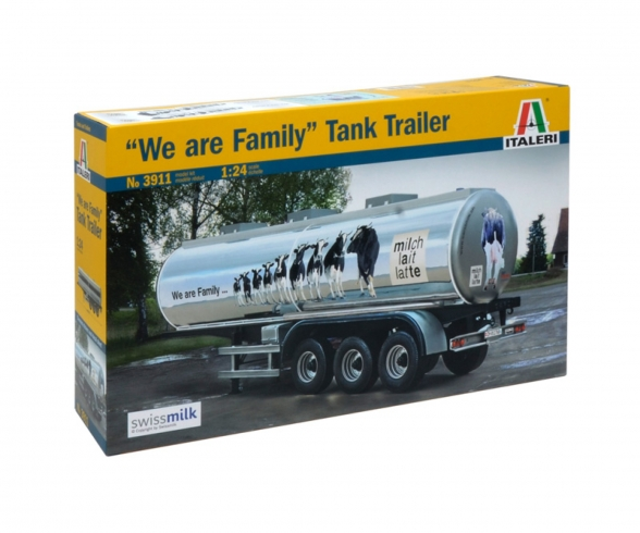 "1:24 ""The Familiy""Swissmilk Tank Trailer"