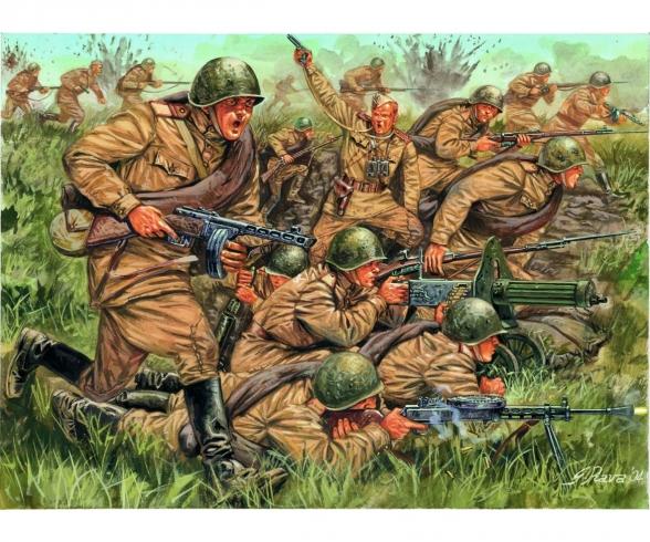 1:72 WW2 Russische Infanterie