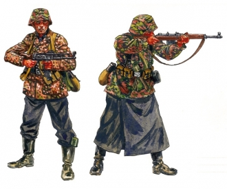 1:72 WW2 - German Elite Troops (SS)
