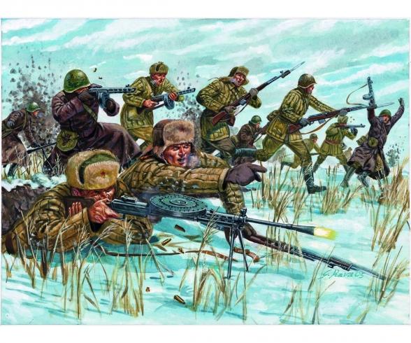 1:72 WW2 - Russ. Infantry (Winter Unif.)