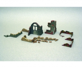 1:72 Walls and ruins w/accessories