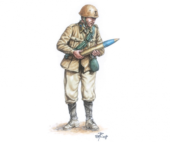 1:72 Ital. 90/53 Geschütz mit Soldaten