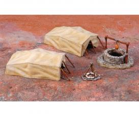 1:72 Wüstenzeltplatz, Brunnen und Zelte