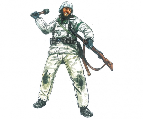 1:72 Fig.-Set  Ger. Infantry (Winter)
