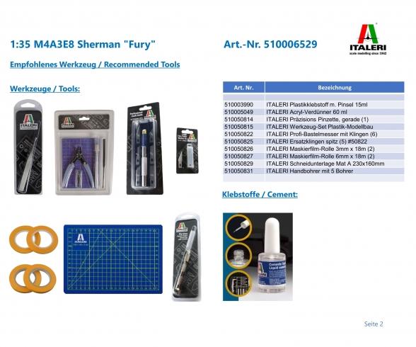 """1:35 M4A3E8 Sherman """"Fury"""""""