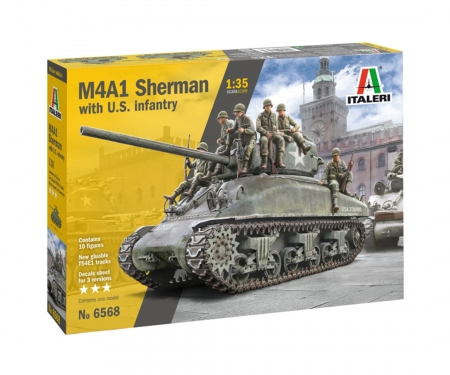 1:35 M4A1 Sherman with U.S. Infantry