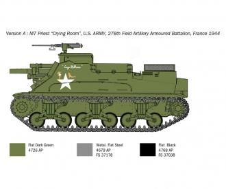 1:35 US M-7 Priest Howitzer Self-Prop