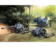 1:72 German Guns Set: PAK35-PAK40-FLAK38