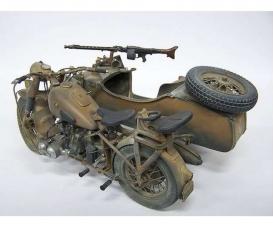 1:9 German Milit.Motorcycle w/sidecar