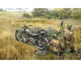 1:35 Sov. Motorcycle M-72 w/ 82mm Mortar