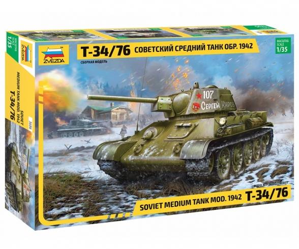 1:35 T-34/76 Mod.1942 Hexag. turret Sov.
