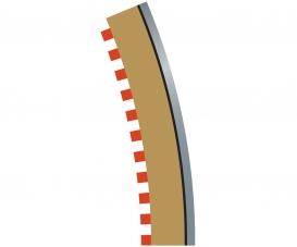 SPORT Randstreifen Kurve R4 aus. 22,5(4)