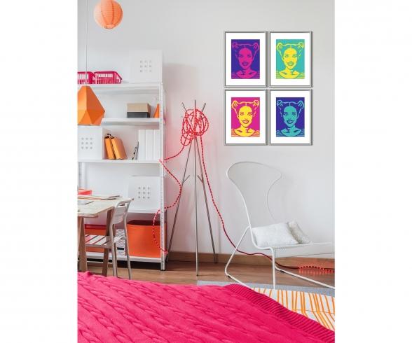 Male deinen Liebling PopArt Malen nach Zahlen