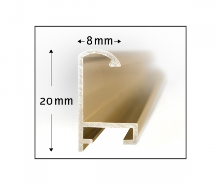 Cadre en aluminium triptyque 50 x 80 cm