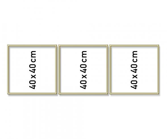 Aluminium frame triptych 40 x 120 cm