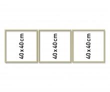 Alurahmen Triptychon 40 x 120 cm
