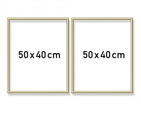 Alurahmen Diptychon 50 x 80 cm