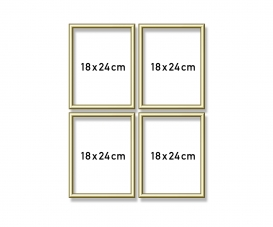 Aluminium frame Quattro 18 x 24 cm