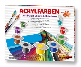 Peintures acryliques pour peinture, loisirs créatifs et la décoration