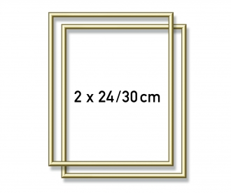 2 Cadres en aluminium 24 x 30 cm