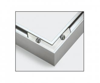 2 Cadres en aluminium 24 x 30 cm – argenté mat