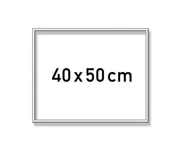 Aluminium frame 40 x 50 cm – mat silver