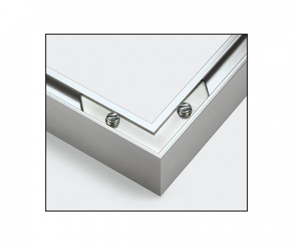 Cadre en aluminium 40 x 50 cm – argenté mat