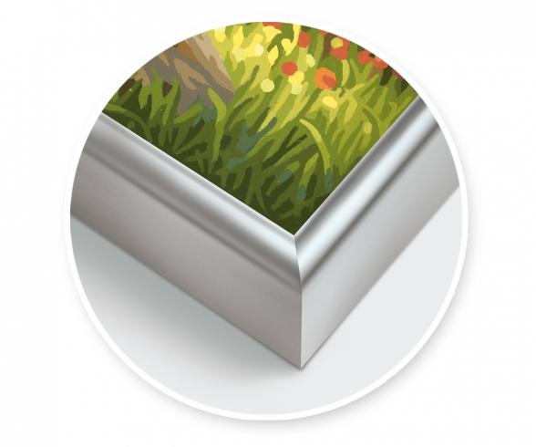 Aluminium frame 50 x 60 cm – mat silver