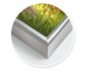 Alurahmen cm 50 x 60 cm – Silber matt