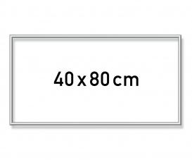 Alurahmen 40 x 80 cm – Silber matt