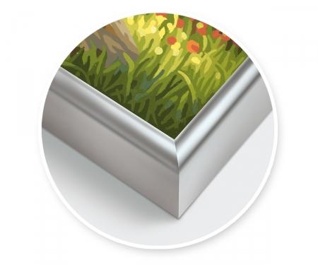 Cadre en aluminium 40 x 80 cm – argenté mat